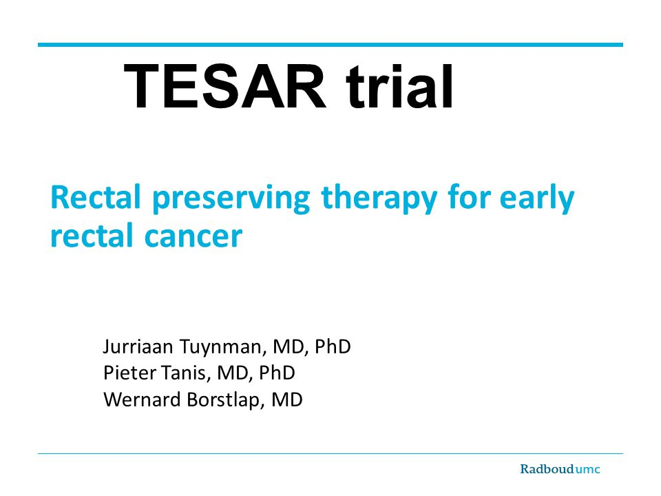 Rectal preserving therapy for early rectal cancer