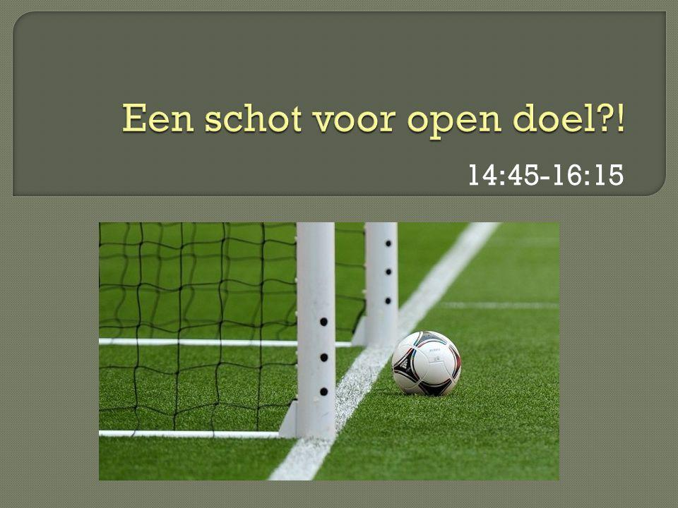 Een schot voor open doel !