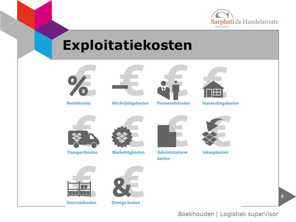 Exploitatiekosten Boekhouden | Logistiek supervisor