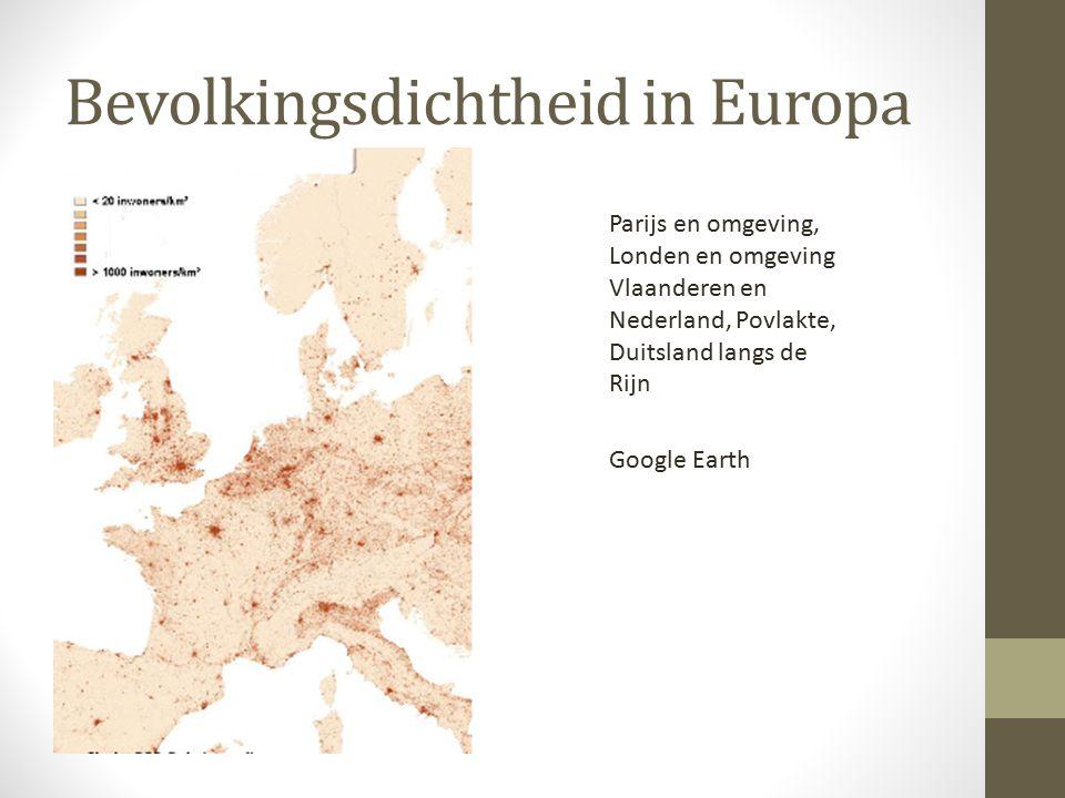Bevolkingsdichtheid in Europa