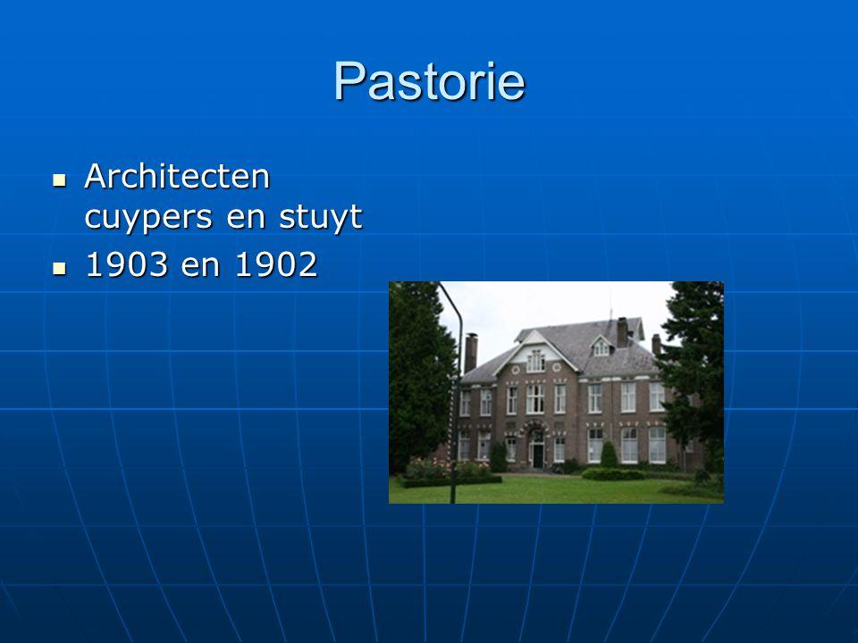 Pastorie Architecten cuypers en stuyt 1903 en 1902