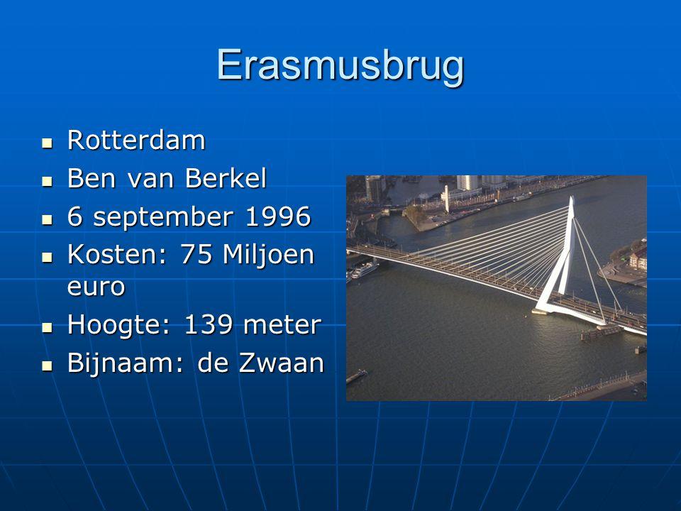 Erasmusbrug Rotterdam Ben van Berkel 6 september 1996