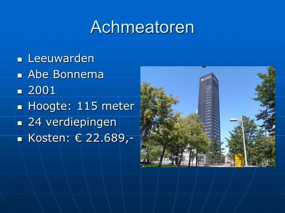Achmeatoren Leeuwarden Abe Bonnema 2001 Hoogte: 115 meter