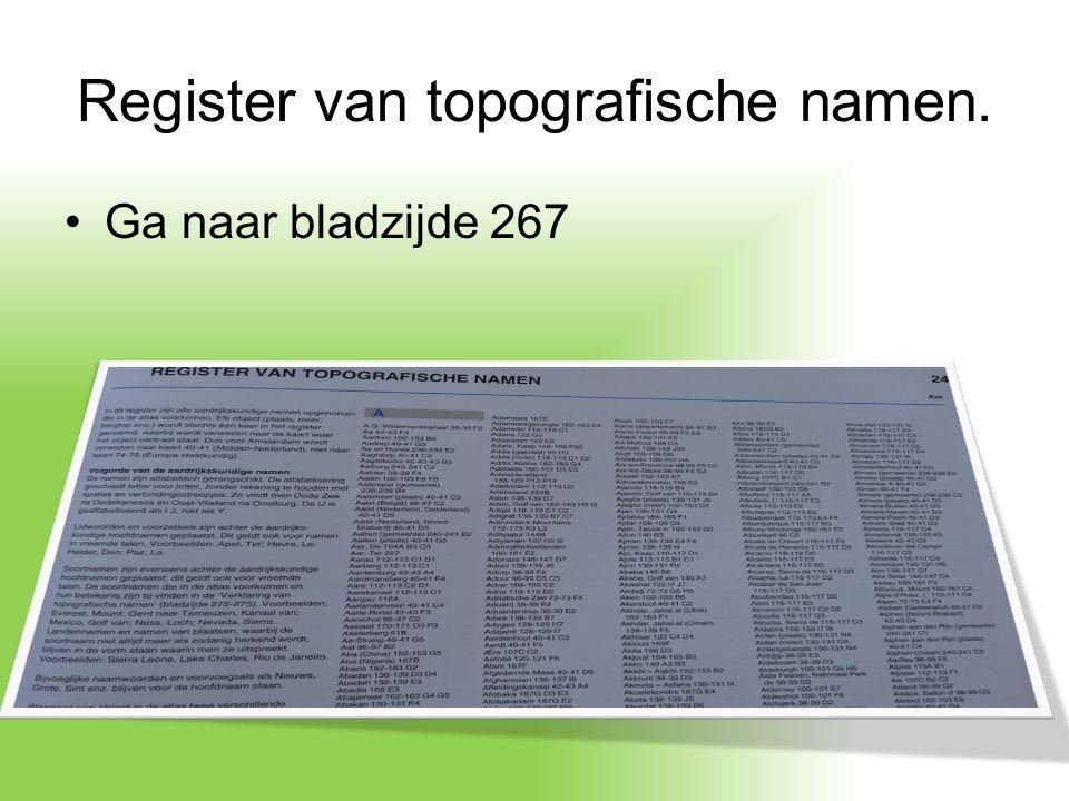 Register van topografische namen.