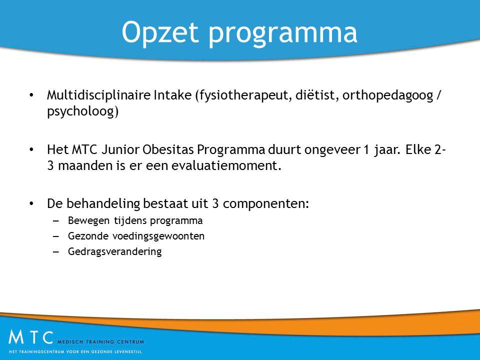 Opzet programma Multidisciplinaire Intake (fysiotherapeut, diëtist, orthopedagoog / psycholoog)