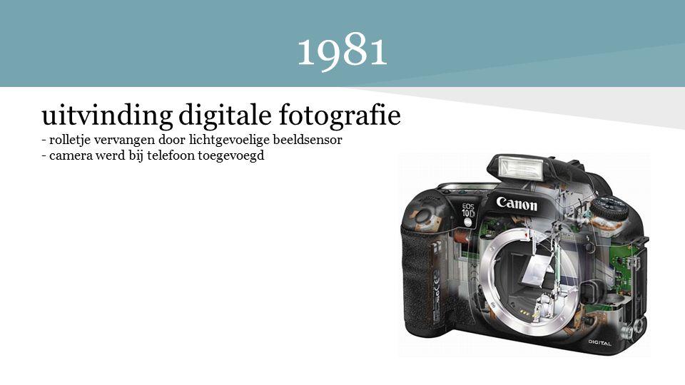 1981 uitvinding digitale fotografie