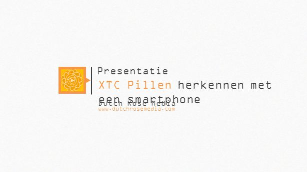 XTC Pillen herkennen met een smartphone
