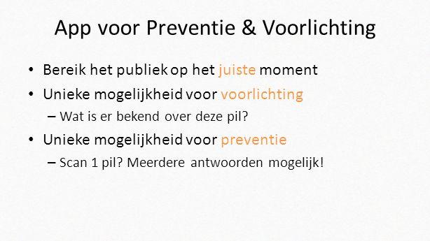 App voor Preventie & Voorlichting