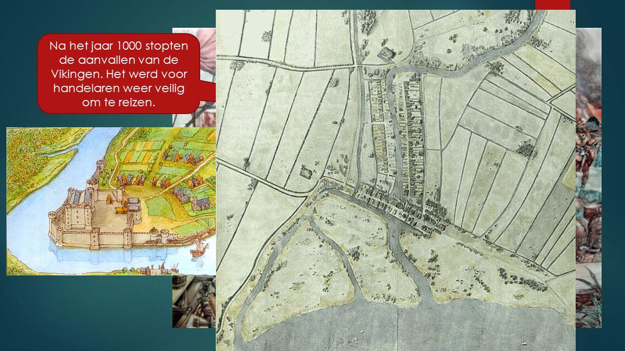 Bij kastelen en kloosters en bij kruispunten van (water)wegen ontstonden steden