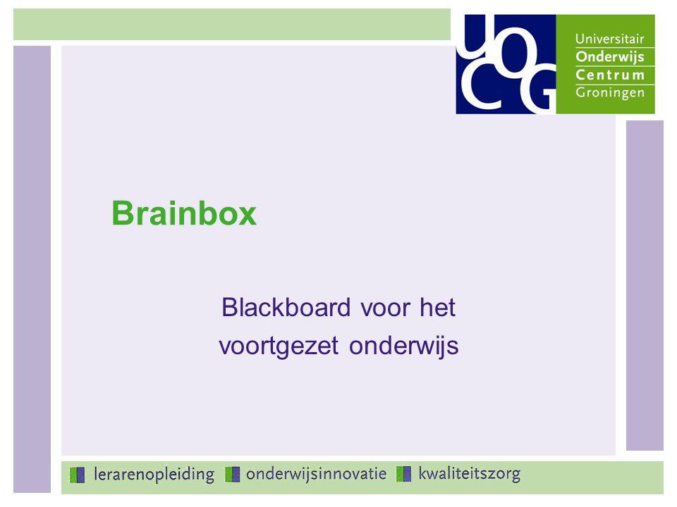Blackboard voor het voortgezet onderwijs