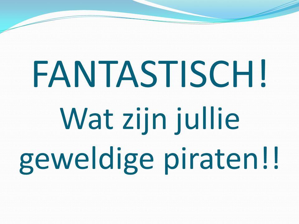 FANTASTISCH! Wat zijn jullie geweldige piraten!!