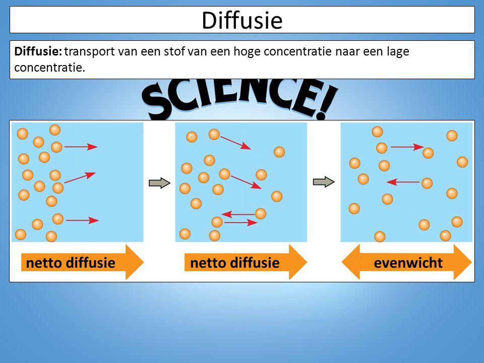 Diffusie netto diffusie netto diffusie evenwicht
