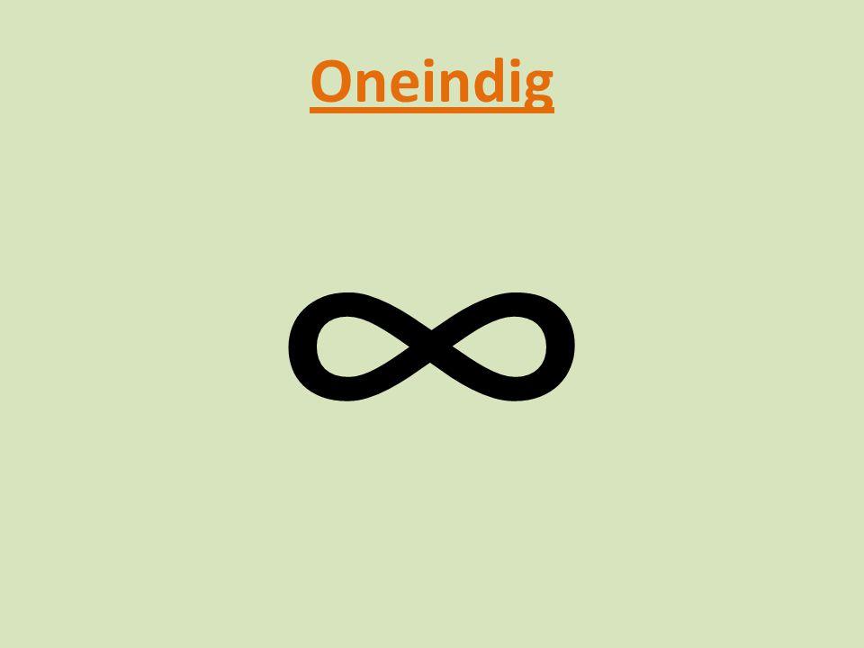 Oneindig ∞