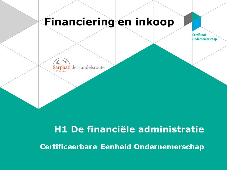 Financiering en inkoop