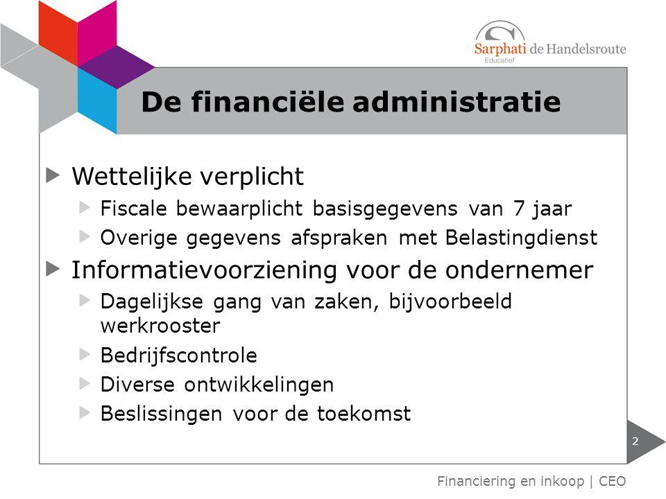 De financiële administratie