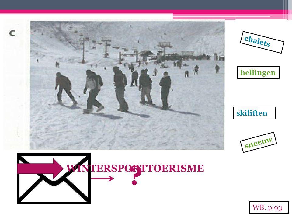 chalets hellingen skiliften sneeuw WINTERSPORTTOERISME WB. p 93