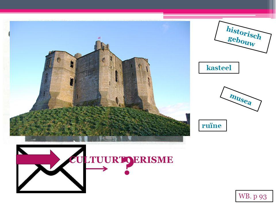 historisch gebouw kasteel musea ruïne CULTUURTOERISME WB. p 93