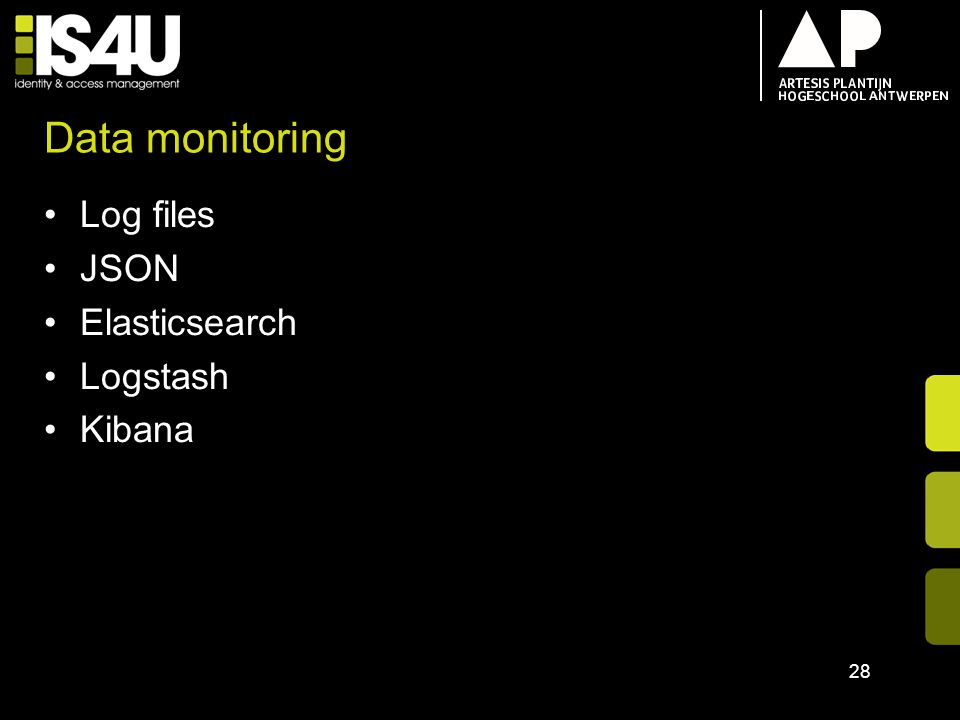 Data monitoring Log files JSON Elasticsearch Logstash Kibana