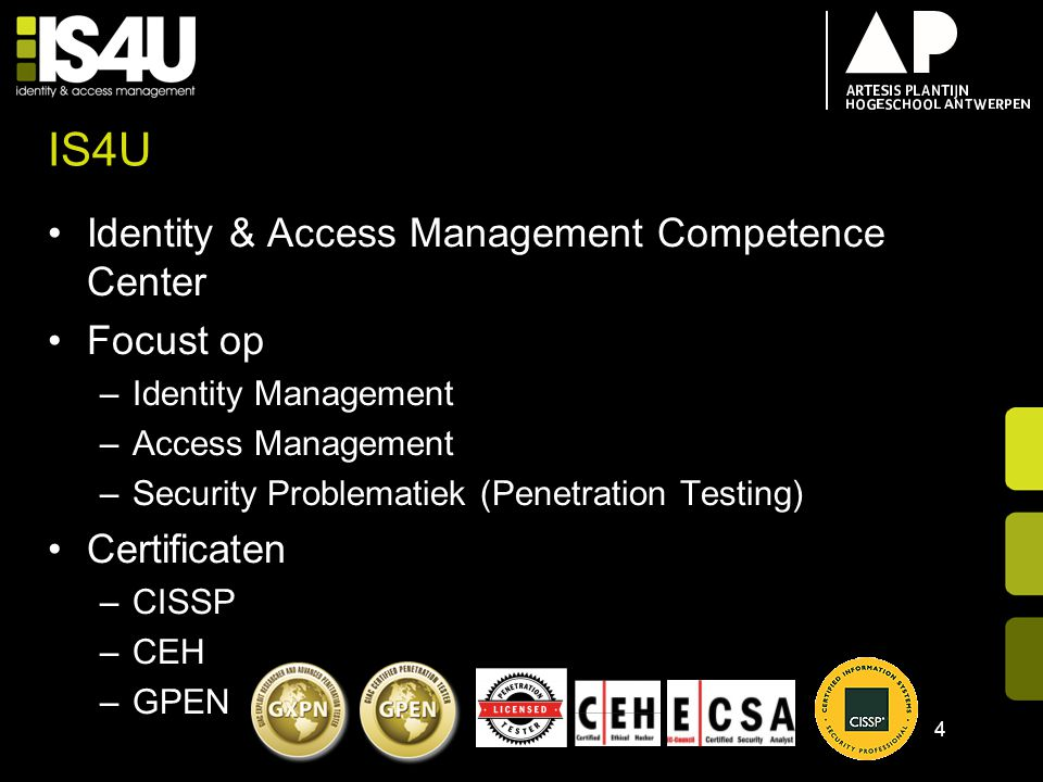 IS4U Identity & Access Management Competence Center Focust op