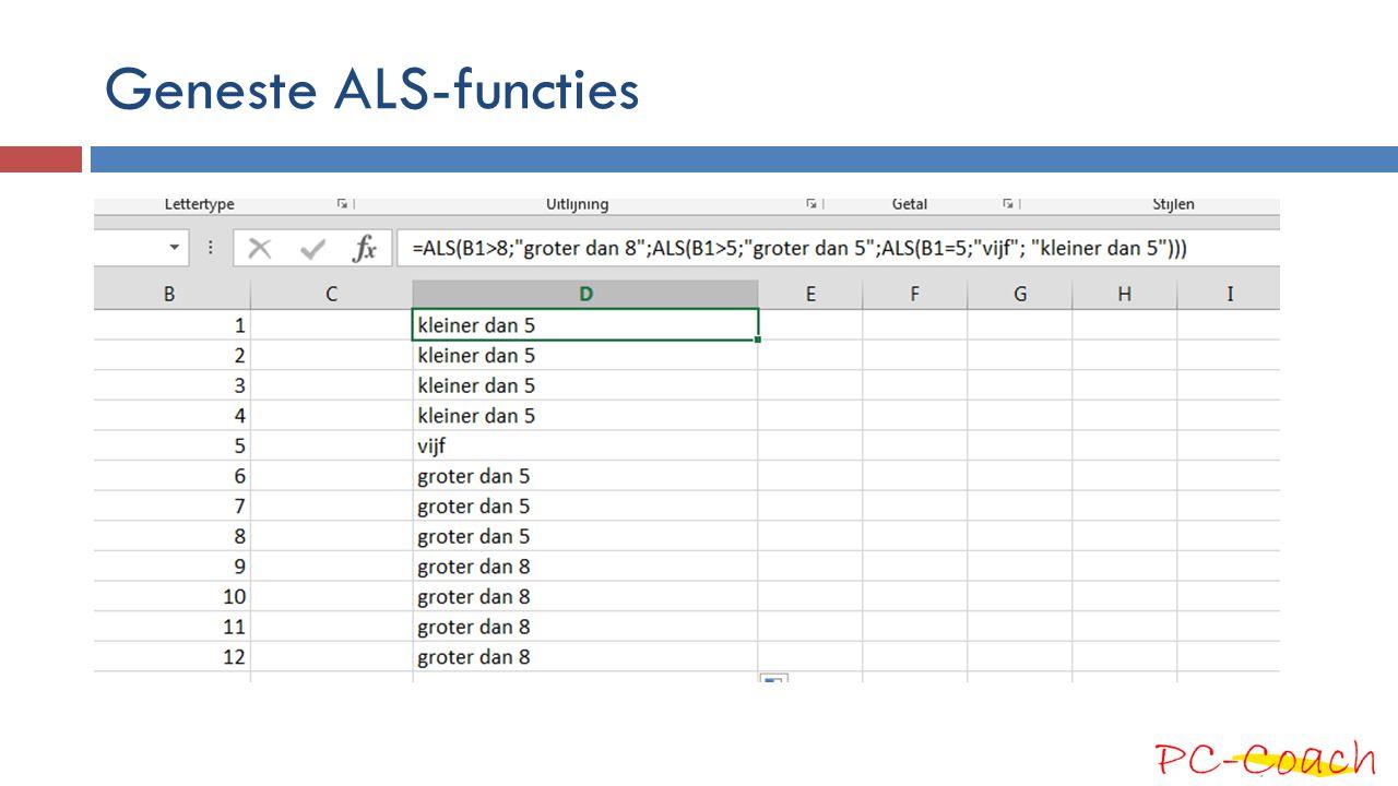 Geneste ALS-functies