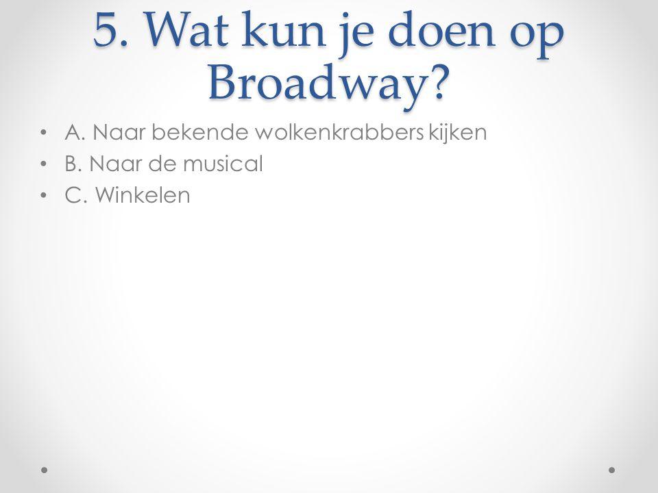 5. Wat kun je doen op Broadway
