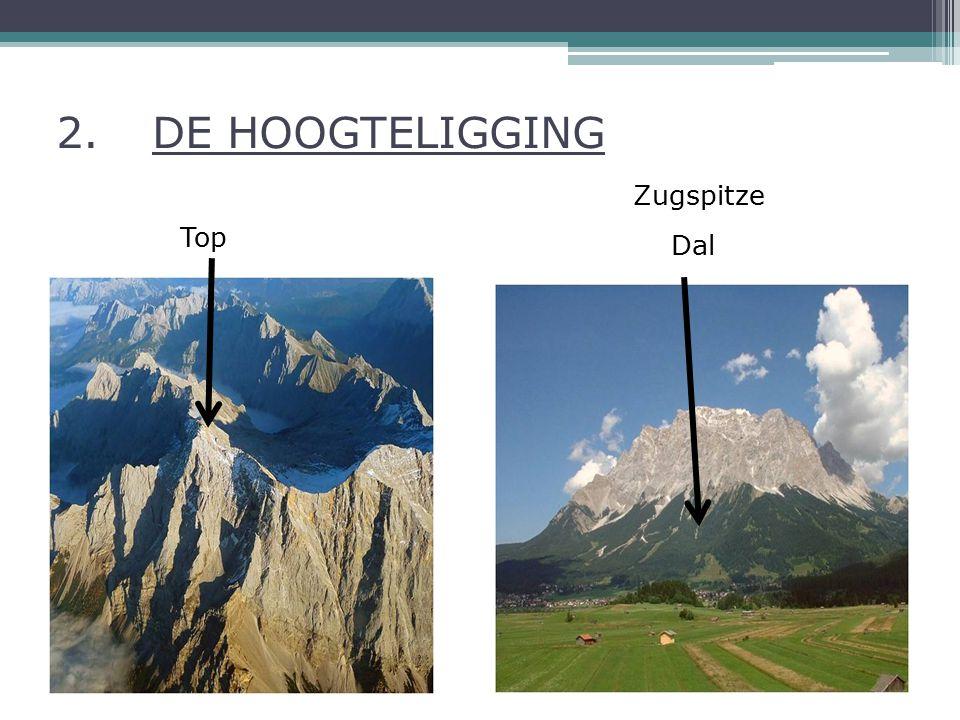 2. DE HOOGTELIGGING Zugspitze Top Dal