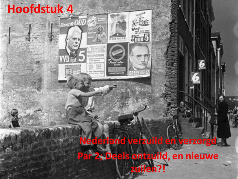 Hoofdstuk 4 Nederland verzuild en verzorgd