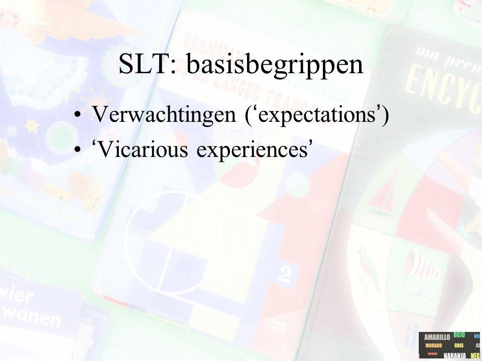 SLT: basisbegrippen Verwachtingen ('expectations')