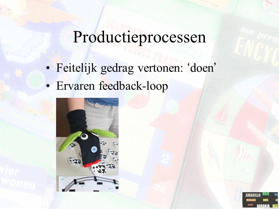 Productieprocessen Feitelijk gedrag vertonen: 'doen'