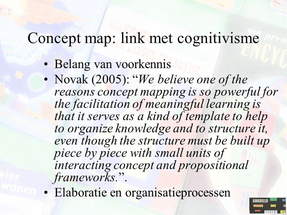 Concept map: link met cognitivisme