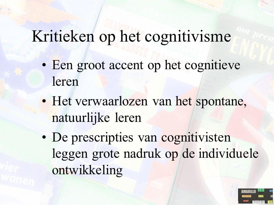 Kritieken op het cognitivisme