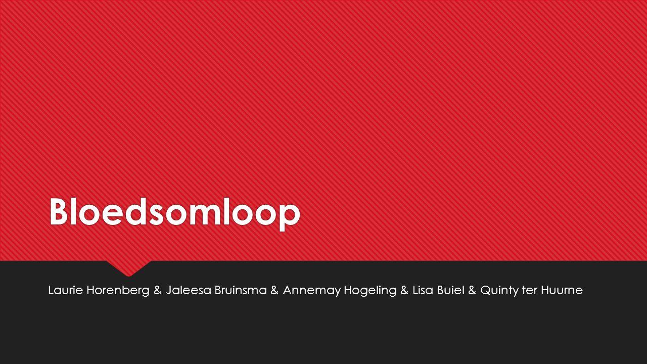 Bloedsomloop Laurie Horenberg & Jaleesa Bruinsma & Annemay Hogeling & Lisa Buiel & Quinty ter Huurne.