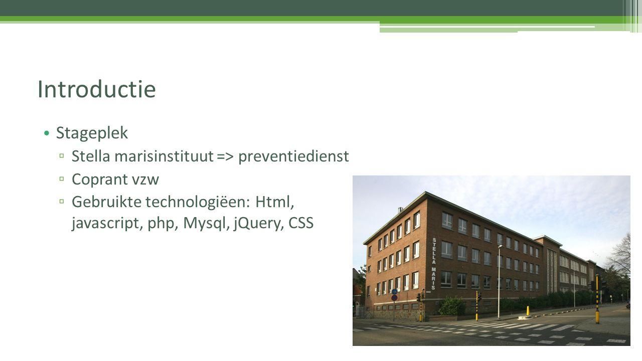 Introductie Stageplek Stella marisinstituut => preventiedienst