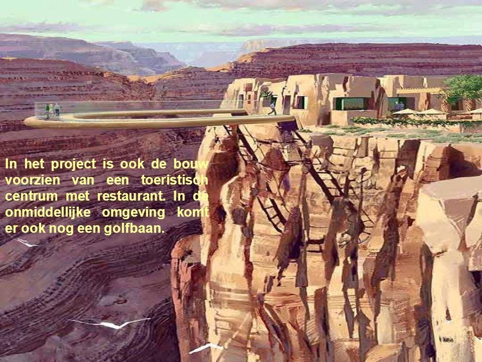 In het project is ook de bouw voorzien van een toeristisch centrum met restaurant.