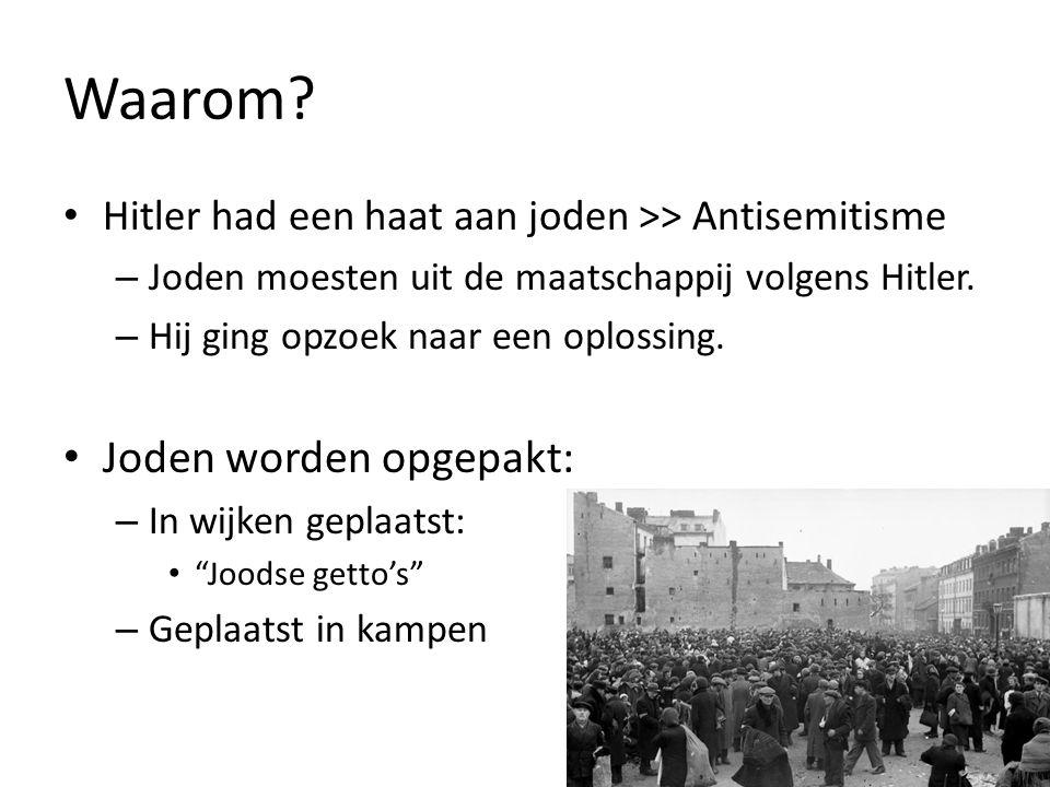 Waarom Joden worden opgepakt: