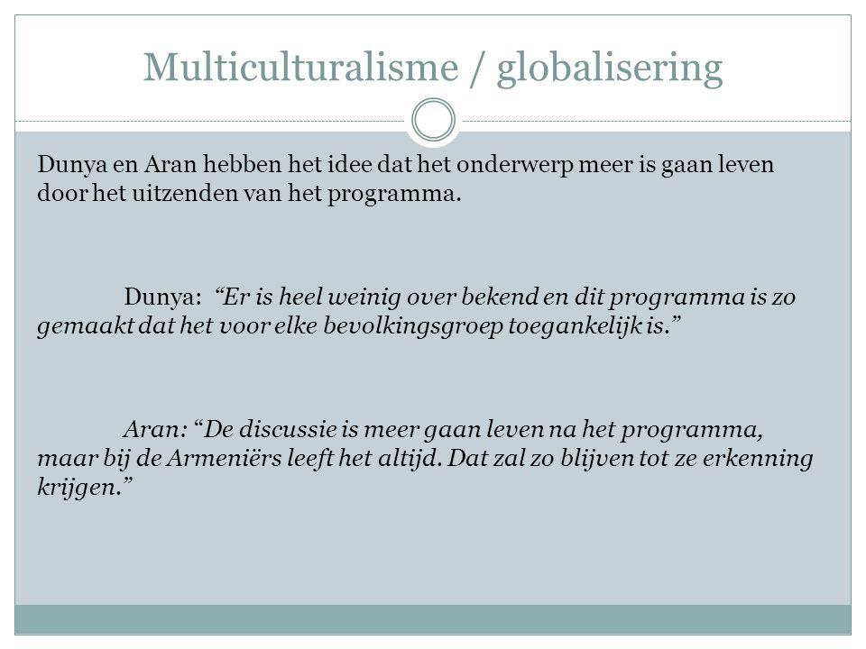 Multiculturalisme / globalisering