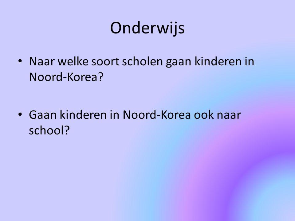 Onderwijs Naar welke soort scholen gaan kinderen in Noord-Korea