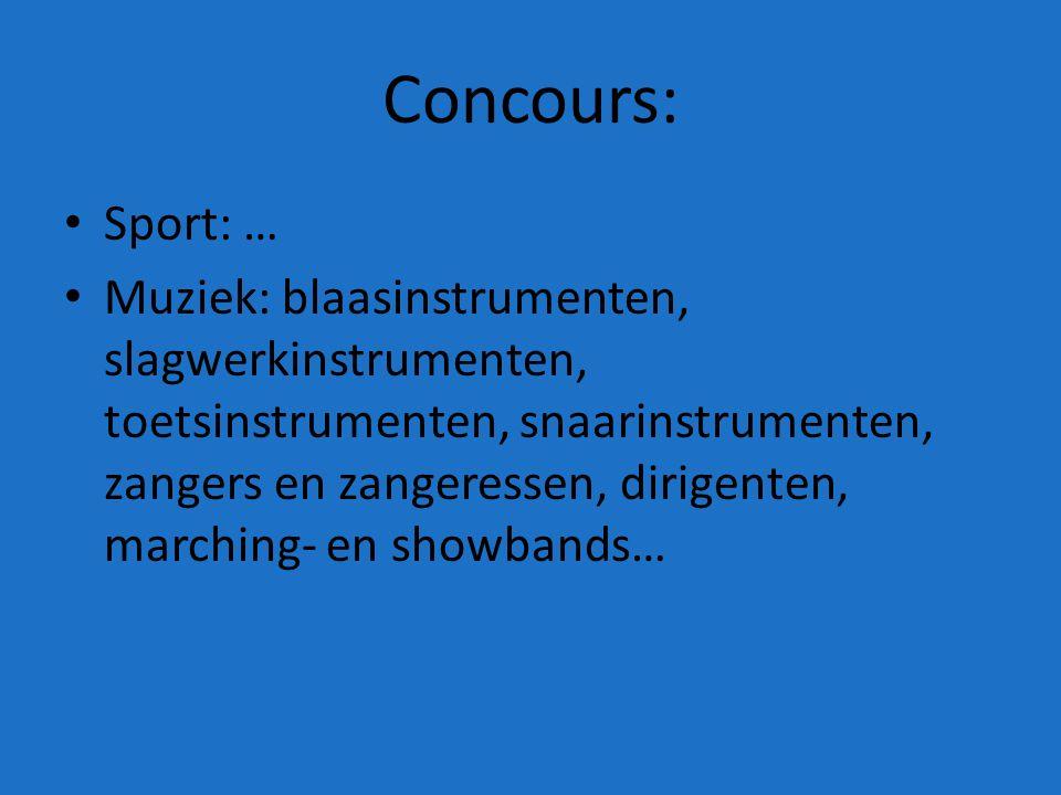 Concours: Sport: …