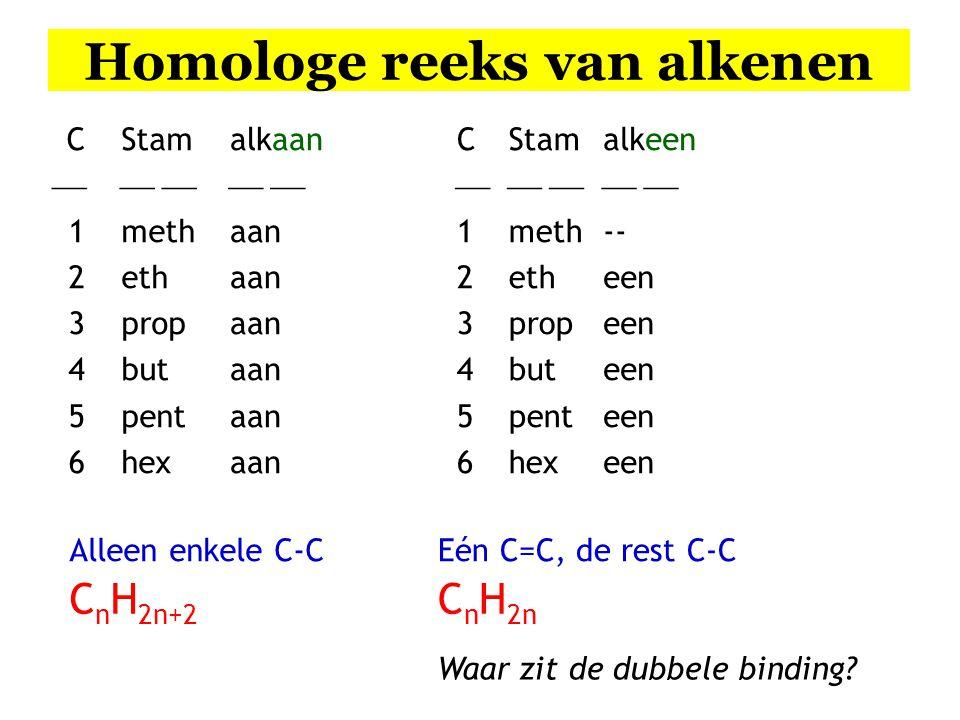 Homologe reeks van alkenen