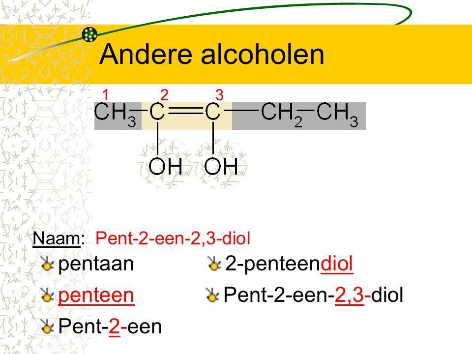 Andere alcoholen pentaan 2-penteendiol penteen Pent-2-een-2,3-diol