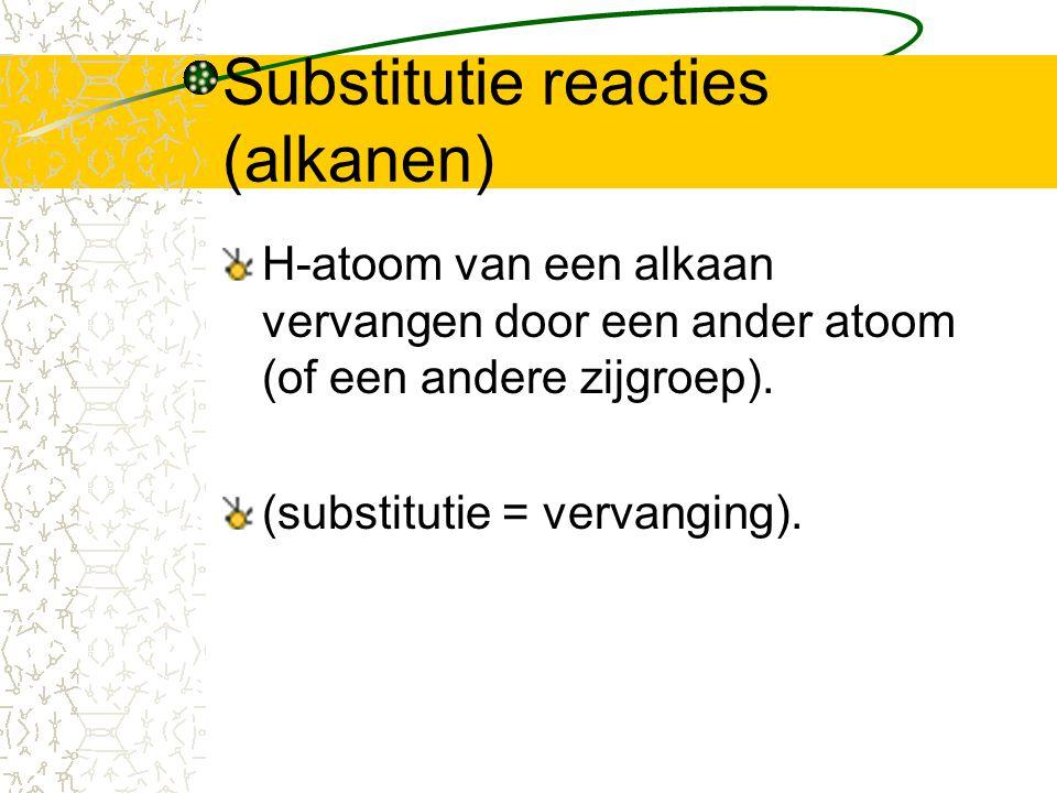 Substitutie reacties (alkanen)