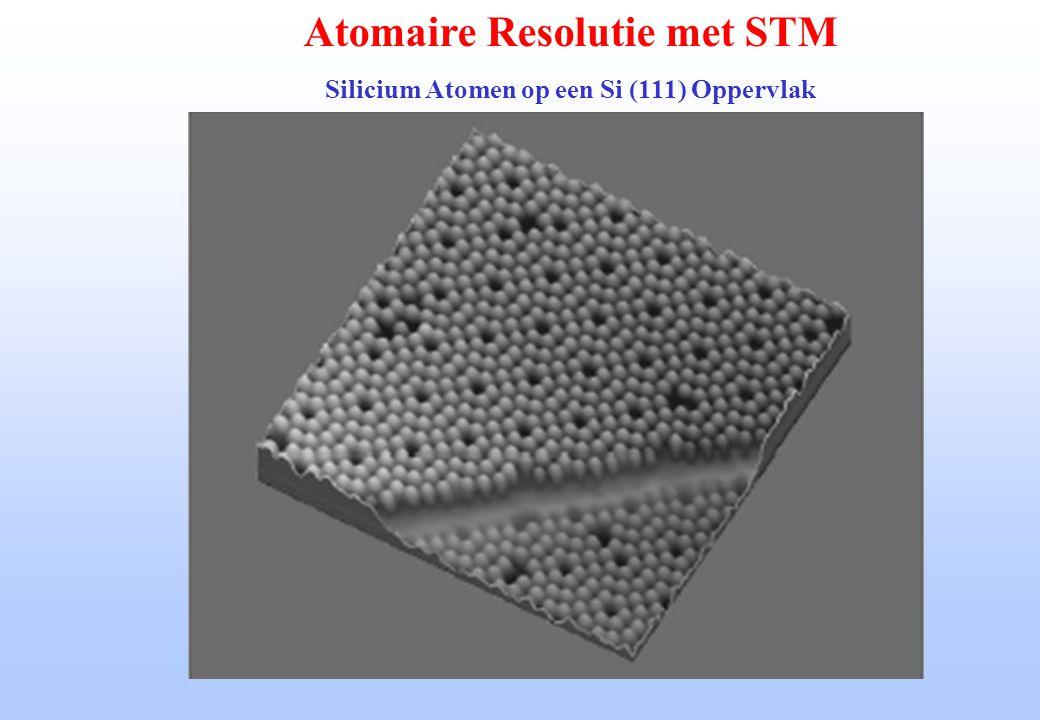 Atomaire Resolutie met STM Silicium Atomen op een Si (111) Oppervlak