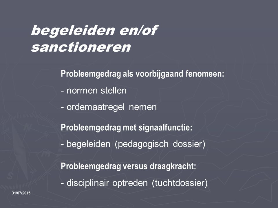 begeleiden en/of sanctioneren