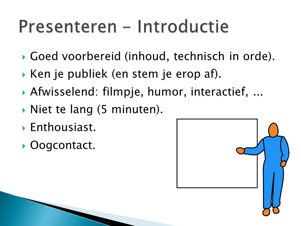 Presenteren - Introductie