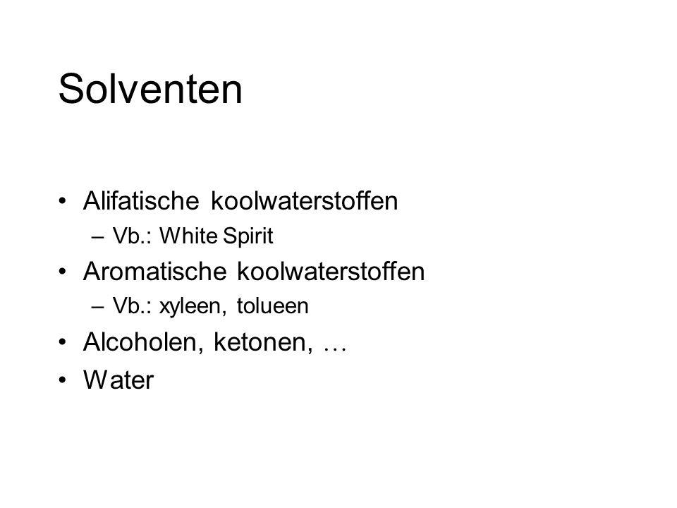 Solventen Alifatische koolwaterstoffen Aromatische koolwaterstoffen