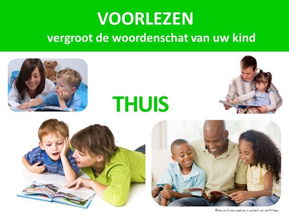 VOORLEZEN vergroot de woordenschat van uw kind