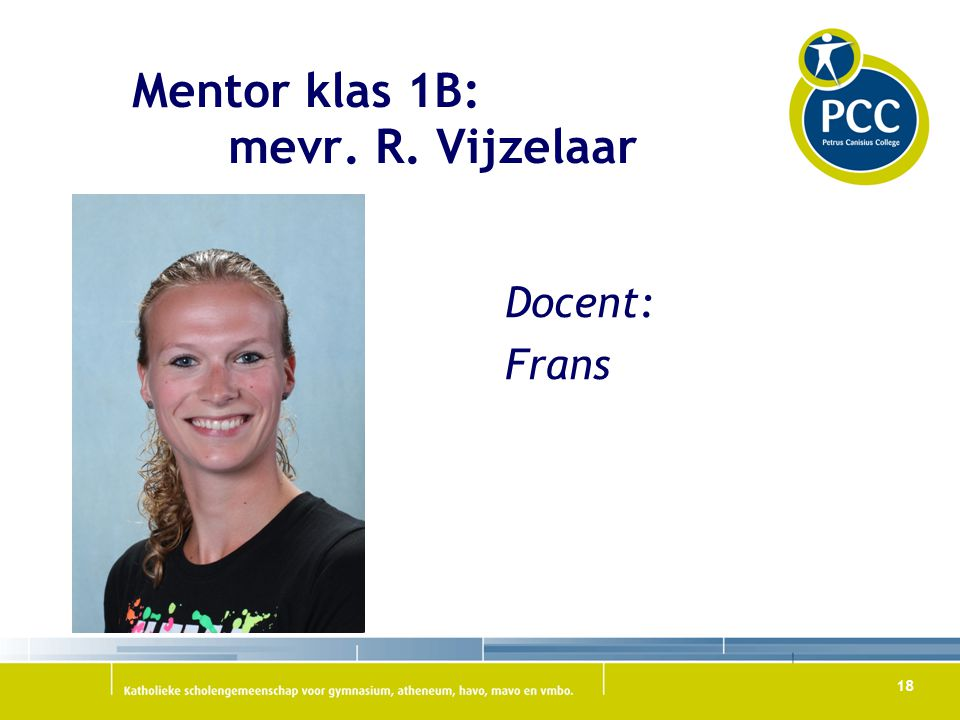 Mentor klas 1B: mevr. R. Vijzelaar