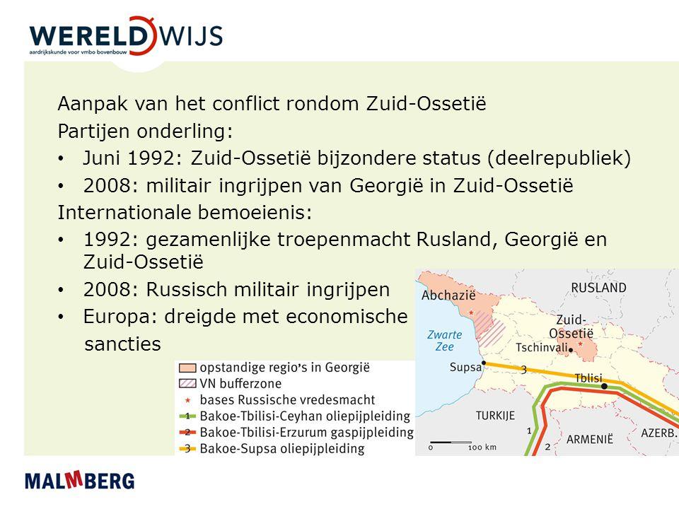 Aanpak van het conflict rondom Zuid-Ossetië