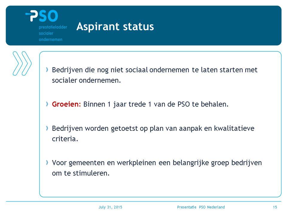 Presentatie PSO Nederland