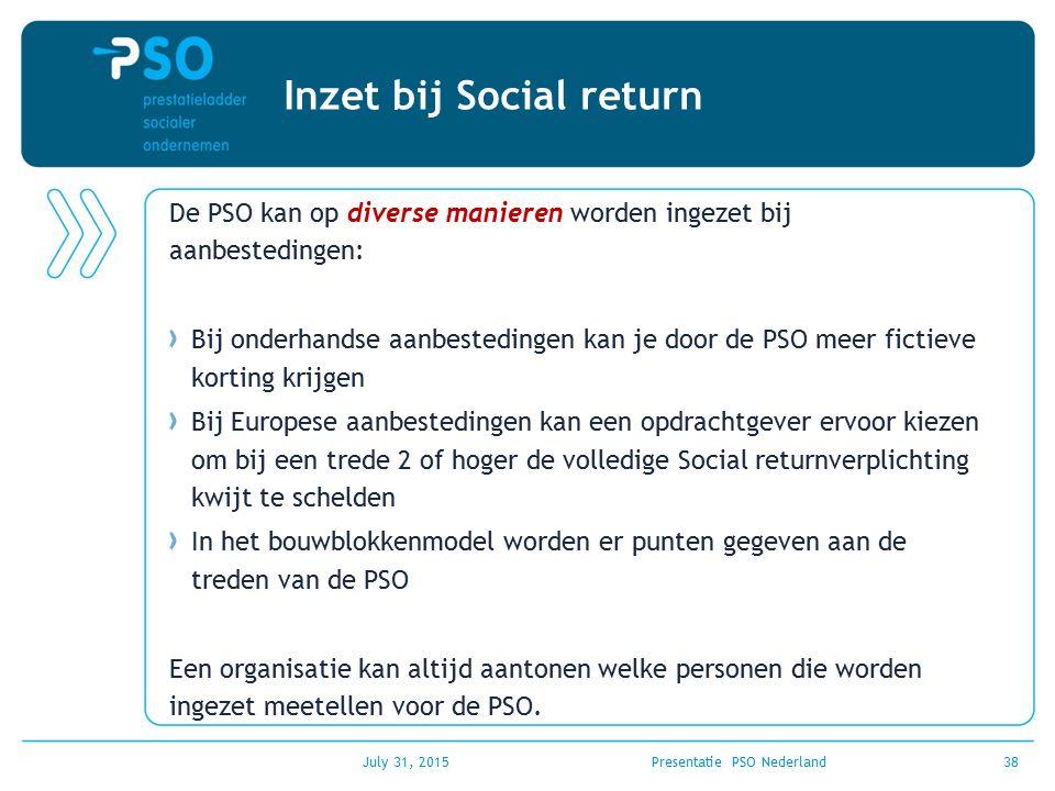 Inzet bij Social return